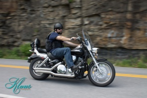 Image of JD on his bike in West Virginia